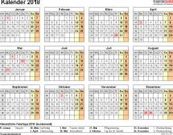 Kalender 2018 Querformat Kalender 2018 Zum Ausdrucken Als Pdf 16 Vorlagen Kostenlos