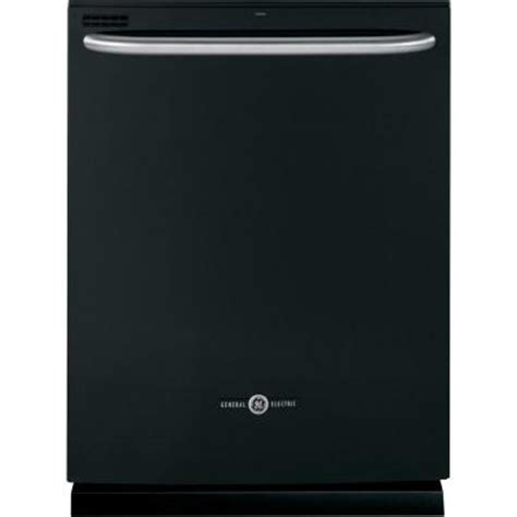 ge artistry top dishwasher in black with steam