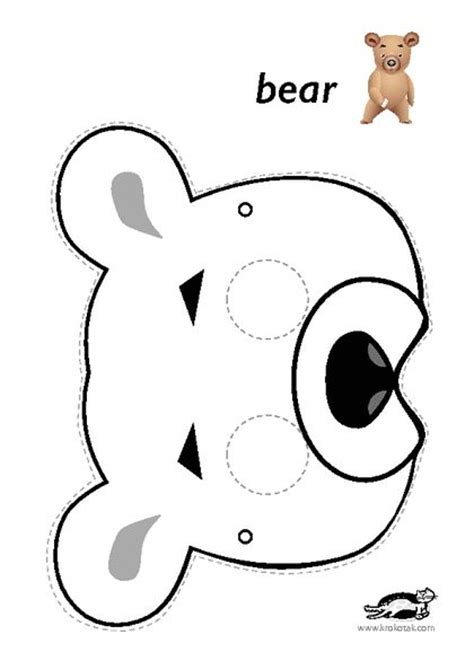 bear mask coloring page 857 best coloring printable masks images on pinterest