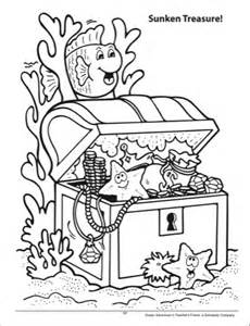sunken treasure chest coloring page coloring pages