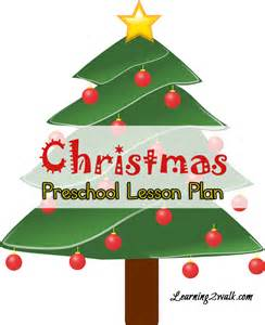 preschool lesson plan christmas
