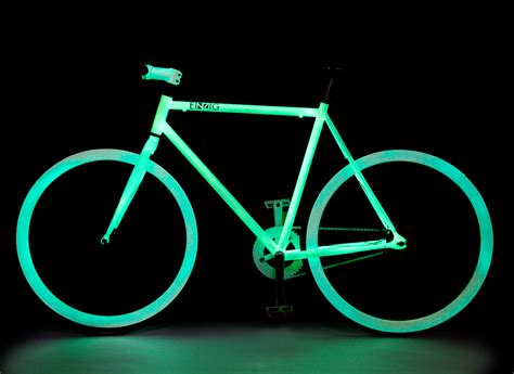 glow in the paint bicycle einzig shop bikes einzig bike glow white bicycles