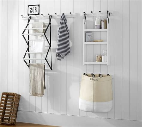 home organization products gabrielle system wood drying rack pottery barn