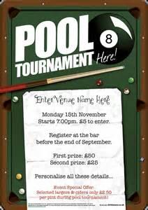 pool tournament flyer a5 promote your pub