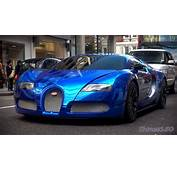BLUE CHROME Bugatti Veyron Centenaire  Driving In London