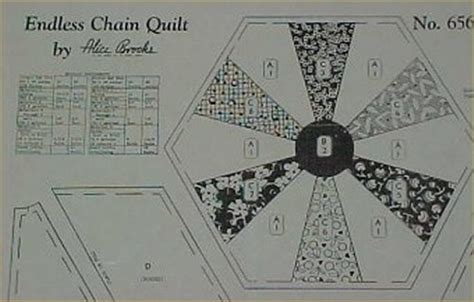 vintage mail order quilt pattern endless chain 1930s ebay
