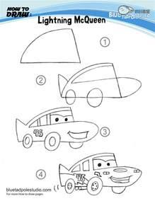 Lightning Mcqueen Drawing In Lieu Of Preschool Drawing For Preschoolers Lightning
