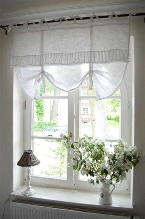 cottage drapes bedroom window treatment white grey black chippy