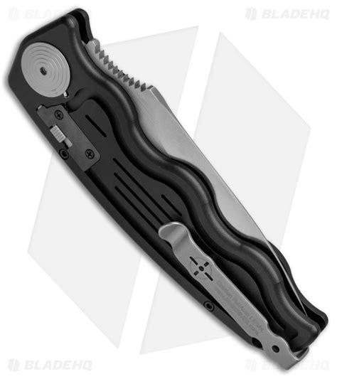 sog tac automatic knife sog tac automatic knife drop point black aluminum 3 5