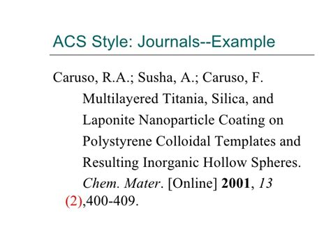 acs template acs style journal articles