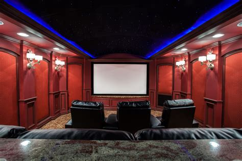 finished basement theater