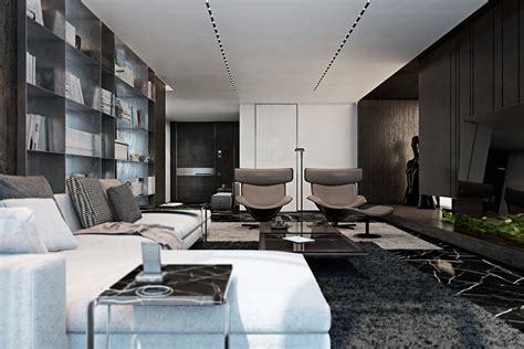 apartment interiors three luxurious apartments with dark modern interiors