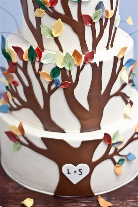ls that look like trees tree wedding cake bearkery bakery