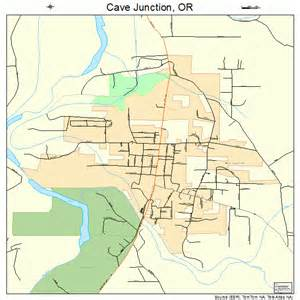 Cave Junction Oregon Map by Cave Junction Oregon Street Map 4111850