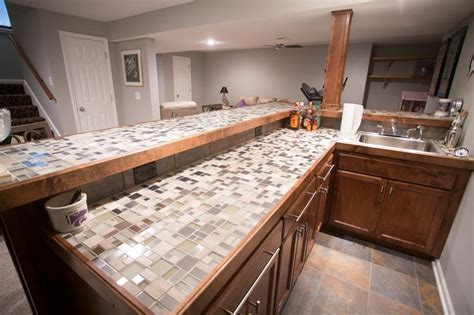 tile bar top ideas glass tile top bar decor ideas pinterest
