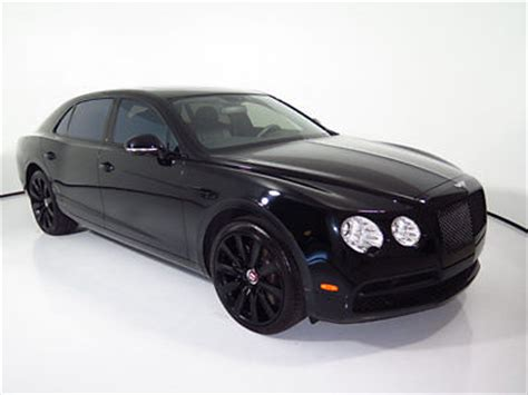 bentley blacked out 15 flying spur v8 only 3k miles blacked out embroidered