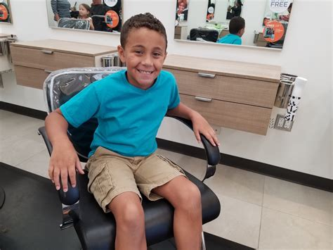 share a haircut with a child in need at hair cuttery