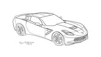corvette coloring pages corvette free coloring pages