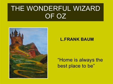 The Wonderful Wizard Of Oz Wizard Of Oz Powerpoint Template