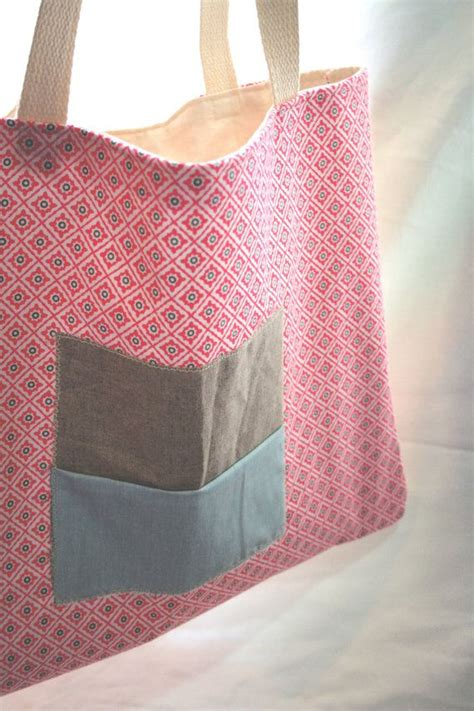 Handmade Fabric Tote Bags - lovely large tote bag handmade fabric bag casual fashion