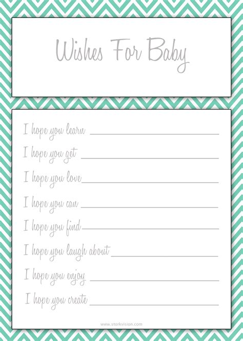 wishes for baby printable template 6 best images of printable wishes for baby template free