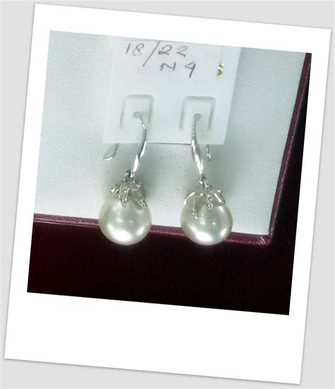 Anting Ear Ring Pearl anting mutiara emas 0056 south sea pearl necklace price pearl wholesale gold jewelry handmade