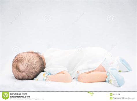 baby sleeping bed baby sleeping in bed royalty free stock image