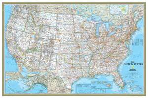 us map maps national geographic usa classic wall map maps