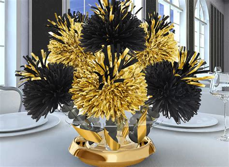 black and gold centerpieces for tables table settings tablesettings wedding ideas place