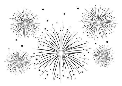 clipart fuochi d artificio fuochi d artificio in bianco e nero illustrazione