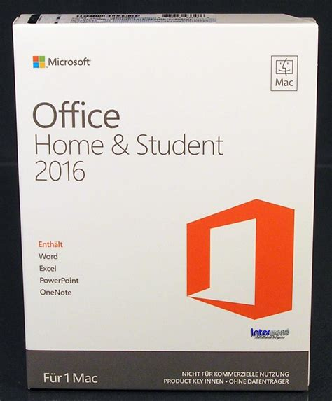 Student Microsoft Office by Microsoft Office Home And Student 2016 Vollversion Box 1