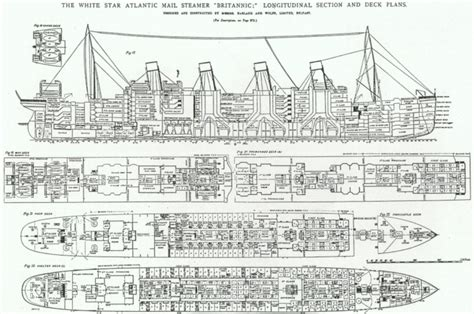 titanic floor plans the rms britannic the forgotten sister