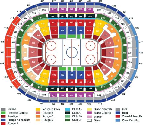 centre bell floor plan bell centre montreal qc seating chart view