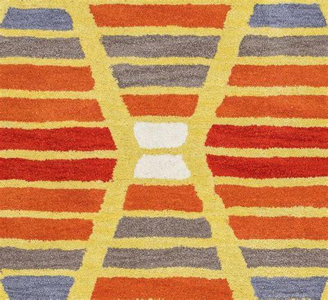 Orange Runner Rug Marianna Fields Striped Hourglass Wool Runner Rug In Orange Grey 2 6 Quot X 8