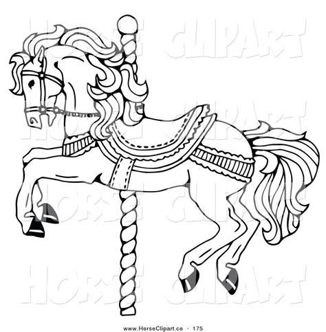 free coloring pages of carousel horses carousel coloring pages carousel decorated