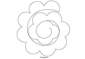 template for paper roses spiral paper template coloring page