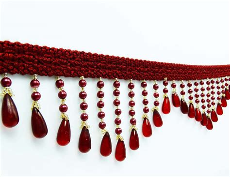 fringe home decor fringe upholstery beaded decorative ribbon curtain supplies crafting by 1 yd ebay