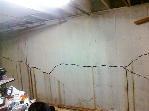 foundation crack repair in concrete basement wall