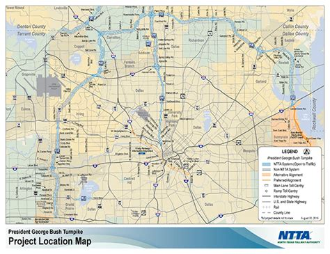 texas tollway map president george bush turnpike pgbt