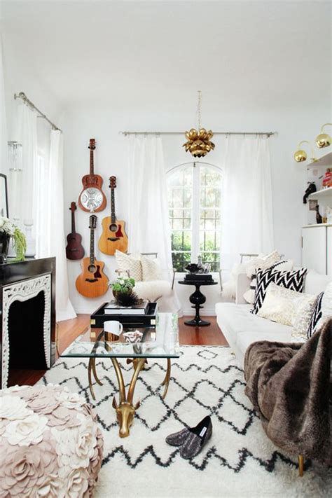 indie home decor interior design pinspiration la vie boh 232 me guitar
