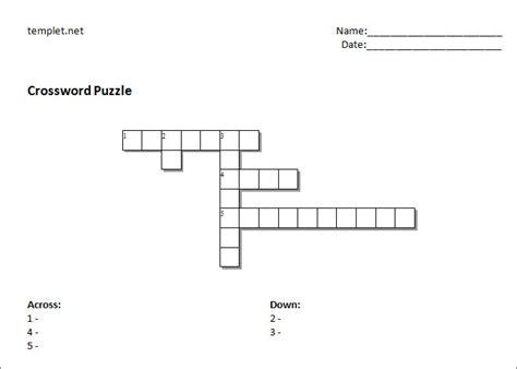 blank crossword template 15 blank crossword template crossword template free