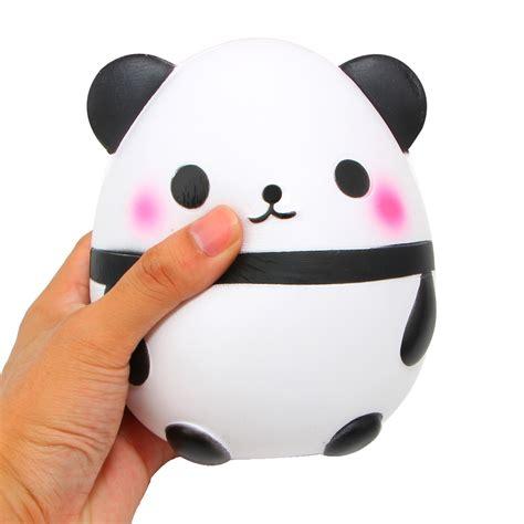 Panda Egg Squishy kawaii jumbo panda squishy soft doll collectibles