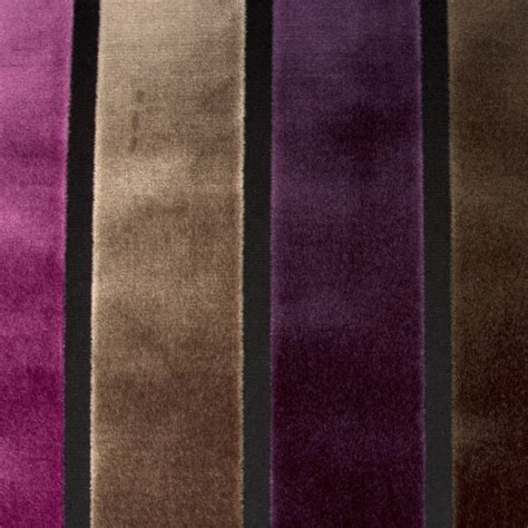 striped velvet upholstery fabric luxury raised purple brown stripe velvet upholstery fabric