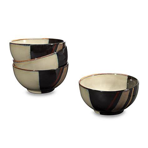 sango avanti black 18 oz bowls set of 4 bed