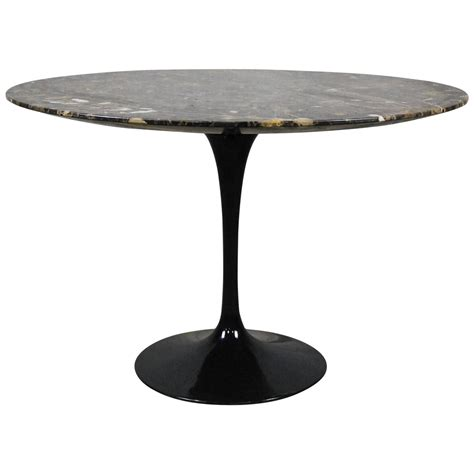 tulip base dining table  eero saarinen  knoll  sale  stdibs