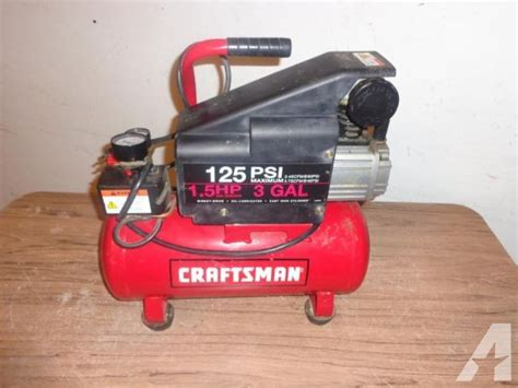 air compressor craftsman 3 gallon 1 5 hp 125 psi for sale in houston classified