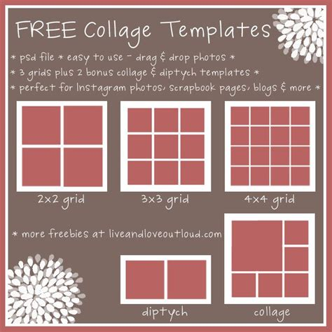 collage templates 25 best ideas about photo collage free on