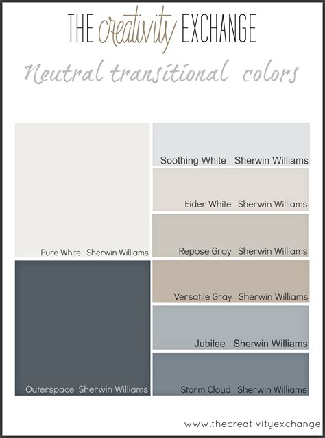 paint color palette starting point for choosing paint colors for a home