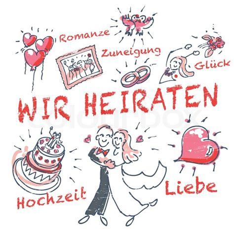 Wir Heiraten by Strichm 228 Nnchen Wir Heiraten Und Hochzeit Vektorgrafik