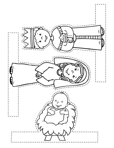 printable nativity scene cutouts free christmas craft from my easy to make bible crafts